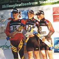 Skiroller Sprint 2001 in Westfeld mit Axel Teichmann, Tobias Angerer und René Sommerfeld