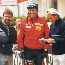 Skiroller Sprint 2011 in Westfeld mit Jochen Behle und Johann Mühlegg