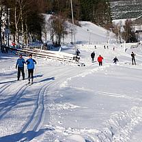 beschneite Loipen im Snow Park Westfeld